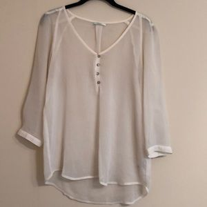 Tan sheer tunic